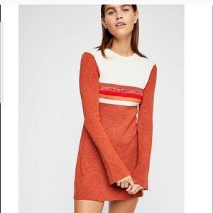 Free People Sweater dress NWT retro inspiring